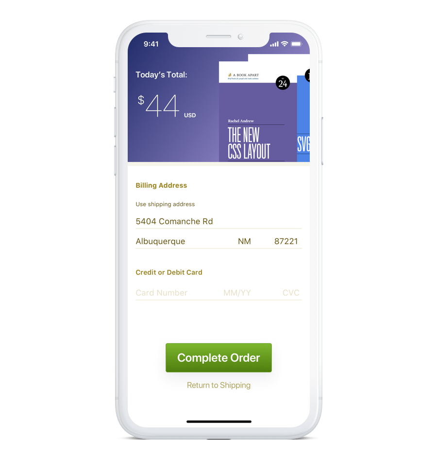 checkout form redesign